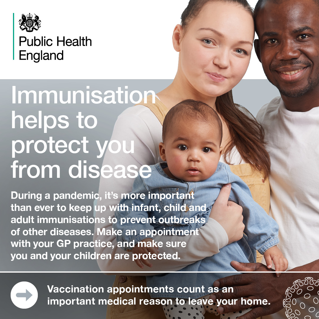 Public Health England 'Young Family' Immunisation Poster